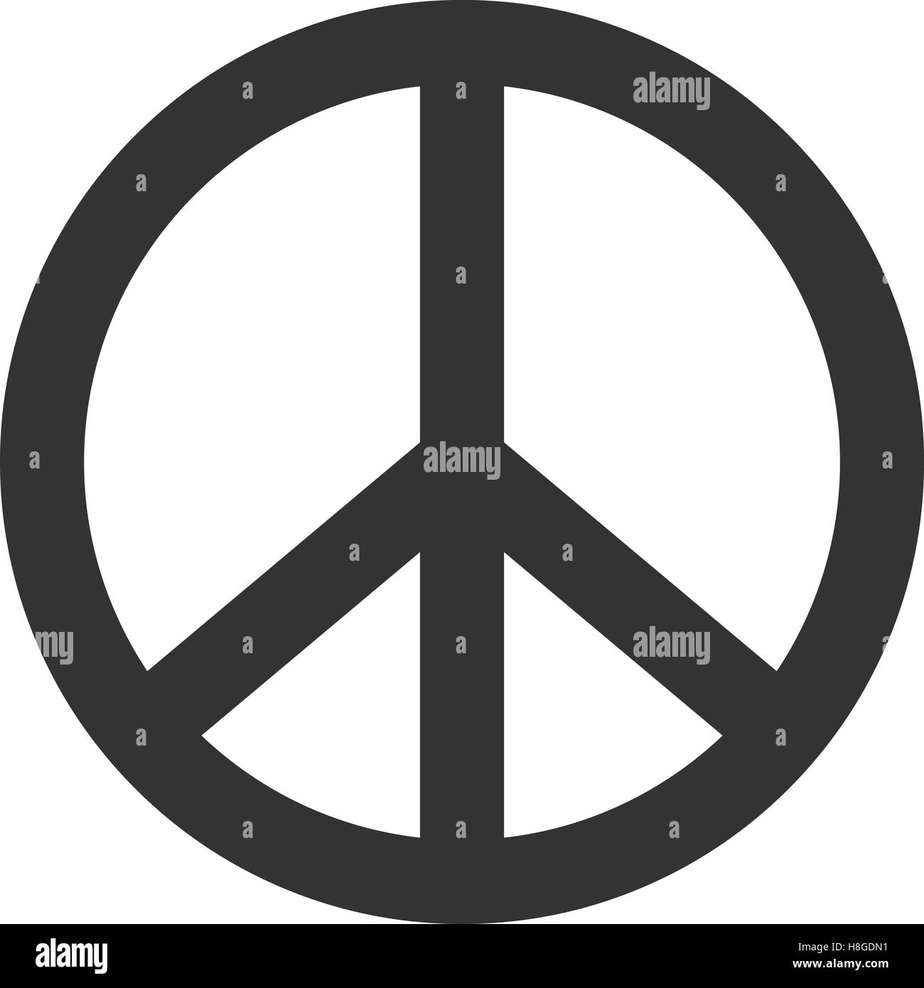 Peace Sign Hippie Symbol Of Peace Stock Vector Art Illustration