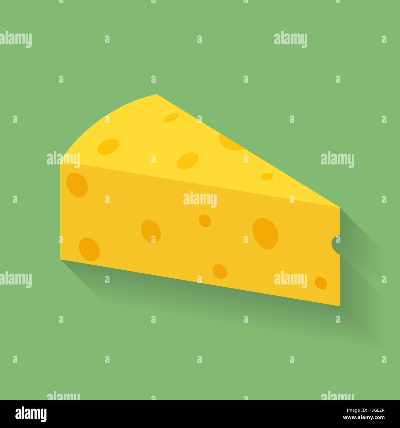 Icon of piece or slab of cheese. Stock Vector