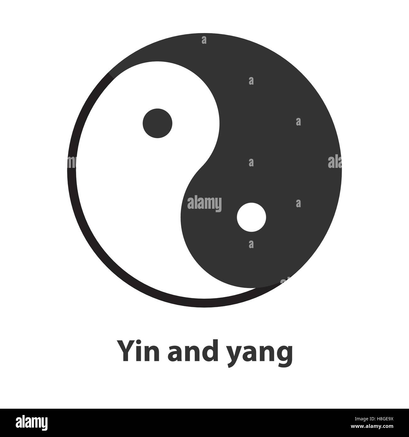 Icon of yin yang symbol taoism buddhism daoism religion sign icon of yin yang symbol taoism buddhism daoism religion sign buycottarizona Images