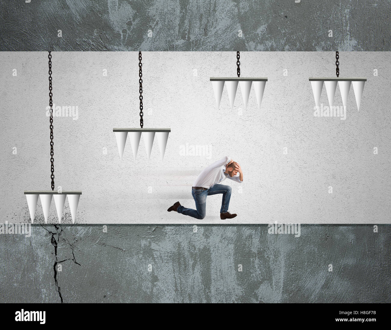 Business difficulty Stock Photo