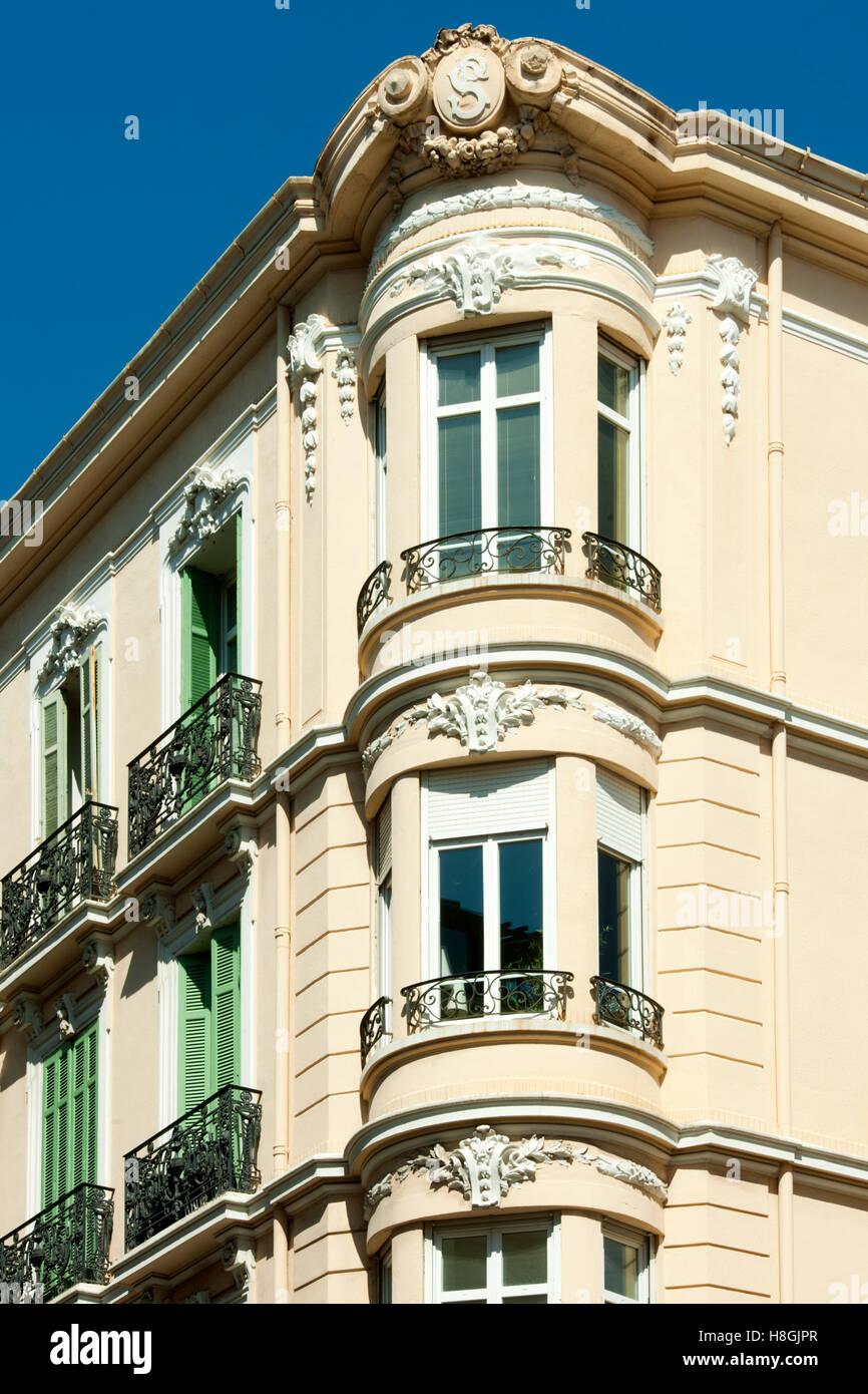 Frankreich, Cote d Azur, Cannes, Rue d´ Antibes, Altstadthaus - Stock Image