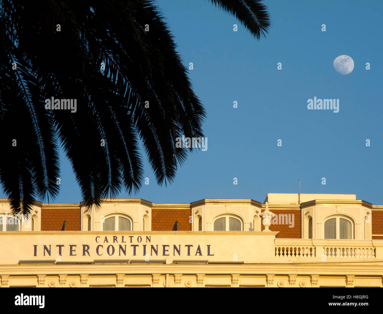 Frankreich, Cote d Azur, Cannes, Hotel Carlton Intercontinental - Stock Image
