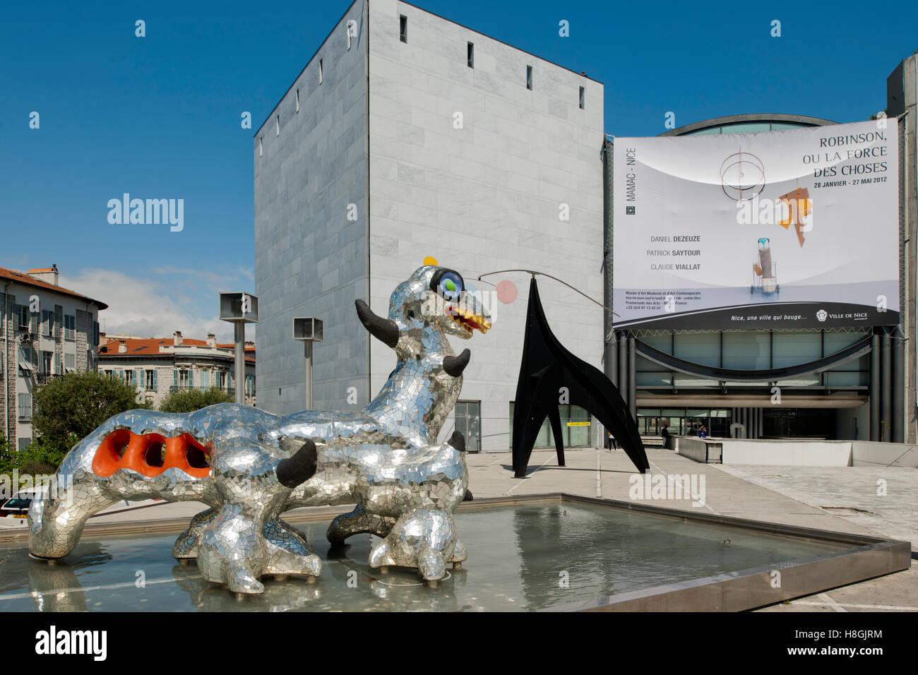 Frankreich, Cote d Azur, Nizza, Musée d´Art Moderne et d´Art Contemporain, Museum für Moderne - Stock Image