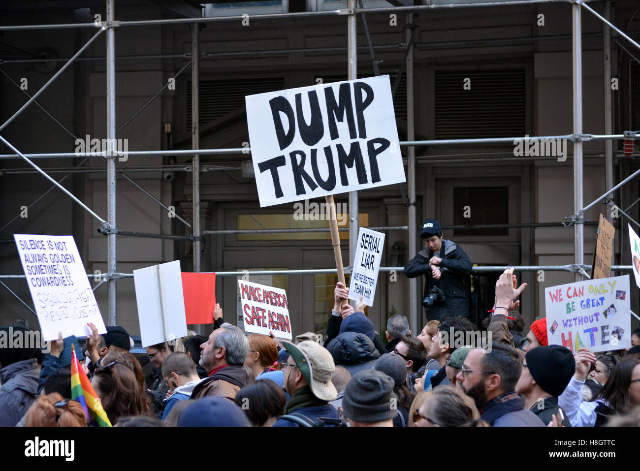 New York, USA. 12th Nov, 2016. 'Trump is not my president' march in New York City. Credit:  Christopher - Stock Image