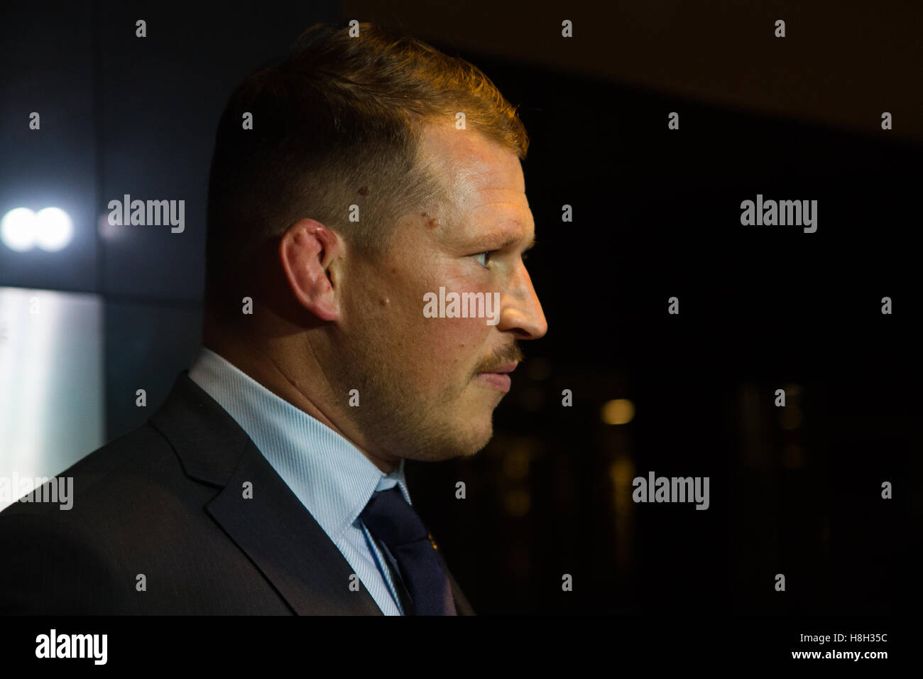 London, UK. 13th November 2016. Dylan Hartley (England captain) arriving for the World Rugby Awards held at The - Stock Image