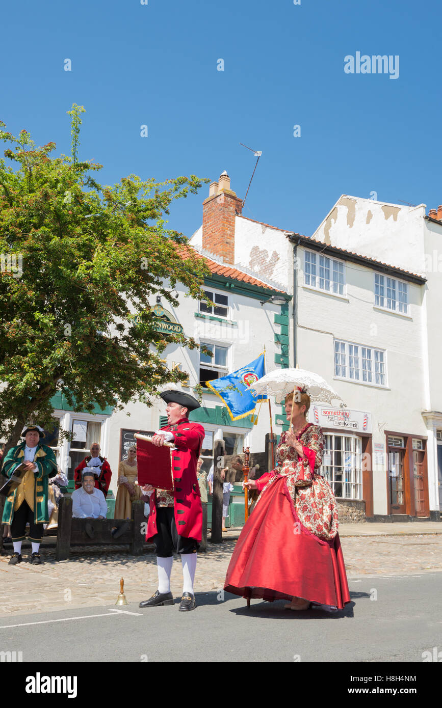 Town Crier in Bridlington Old Town - Stock Image