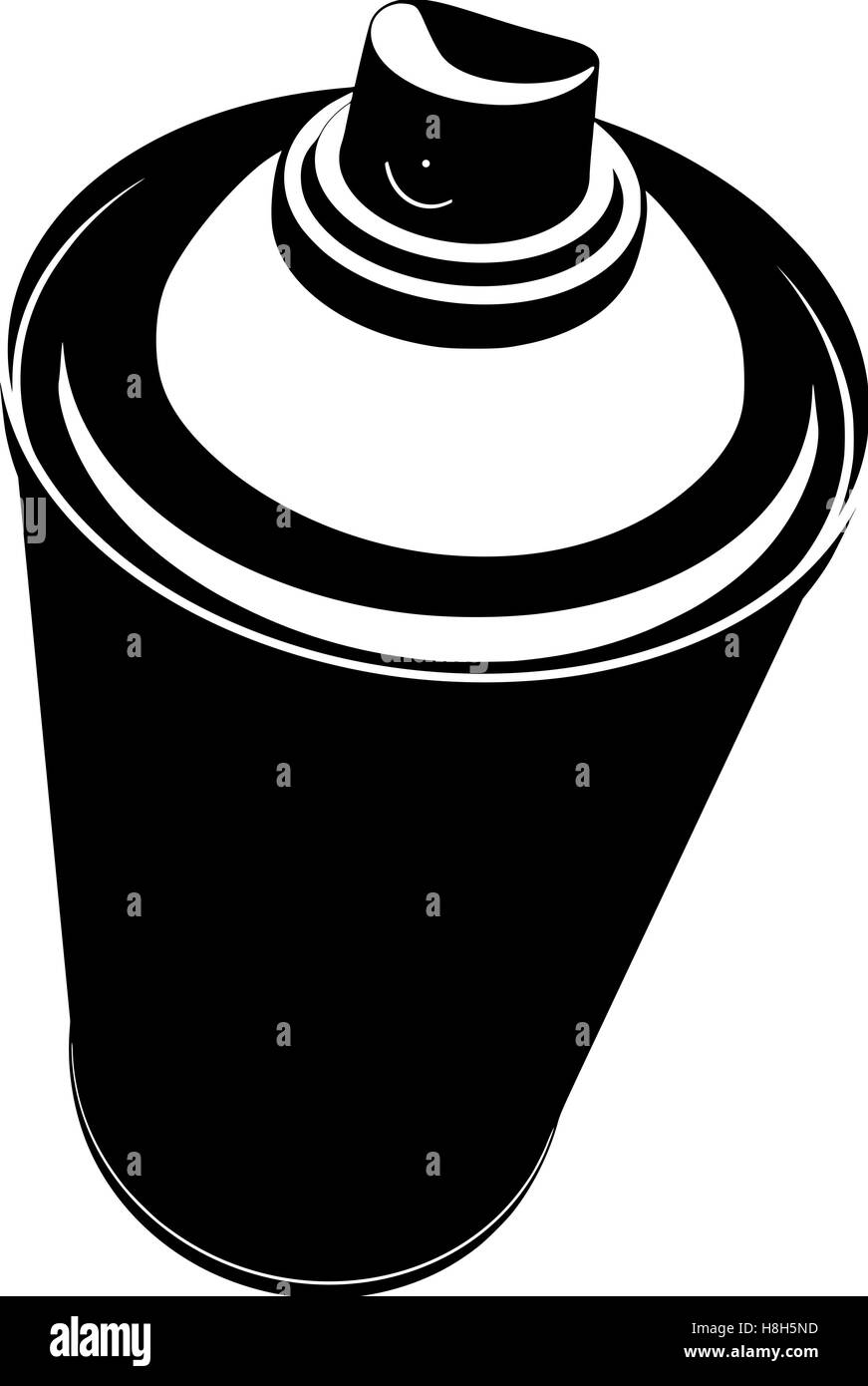 graffiti spraycan illustration in black over white Stock Vector