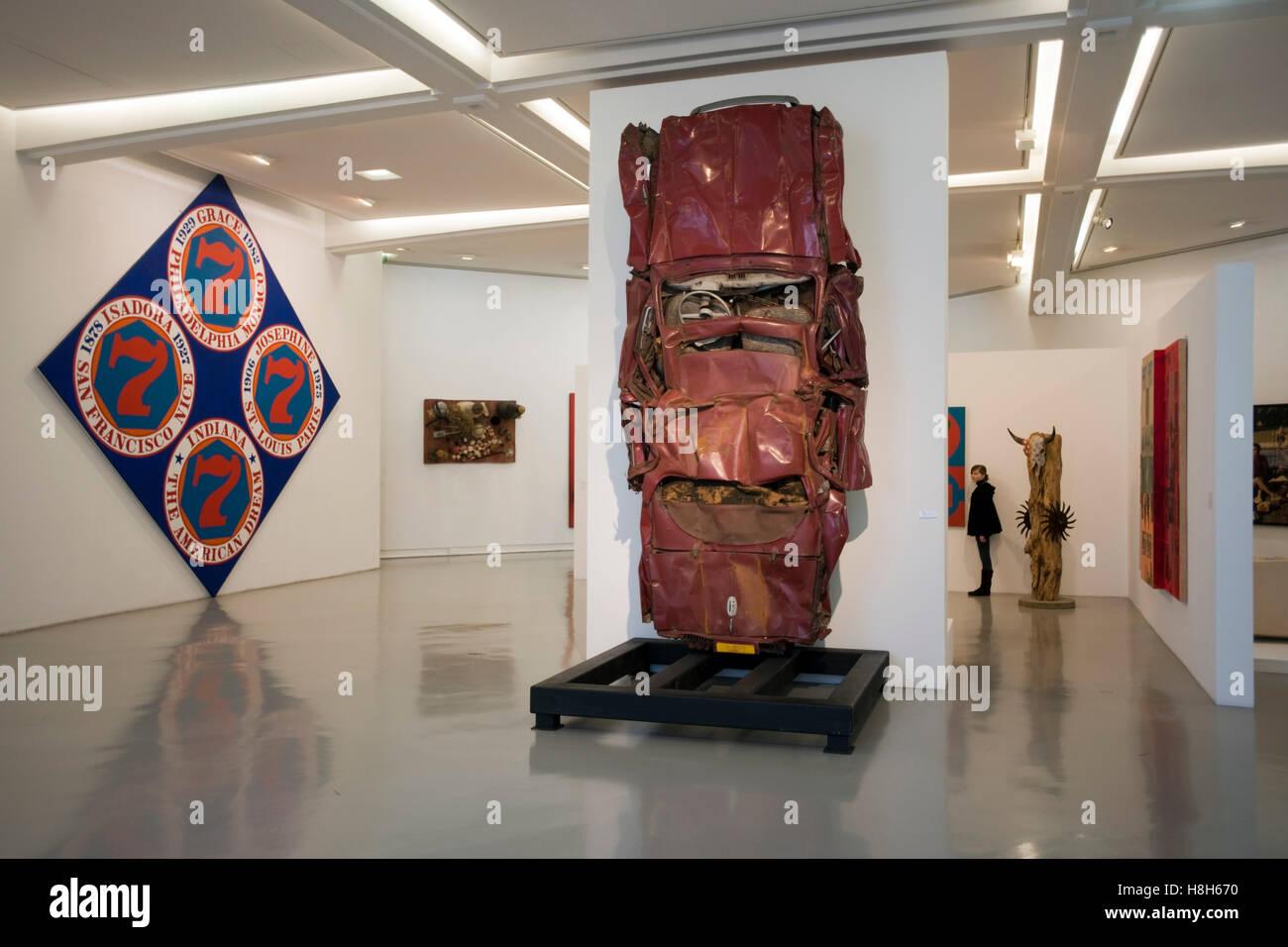 Musee d´Art Moderne et d´Art Contemporain Museum für Moderne Kunst Promenade des Arts Stock Photo