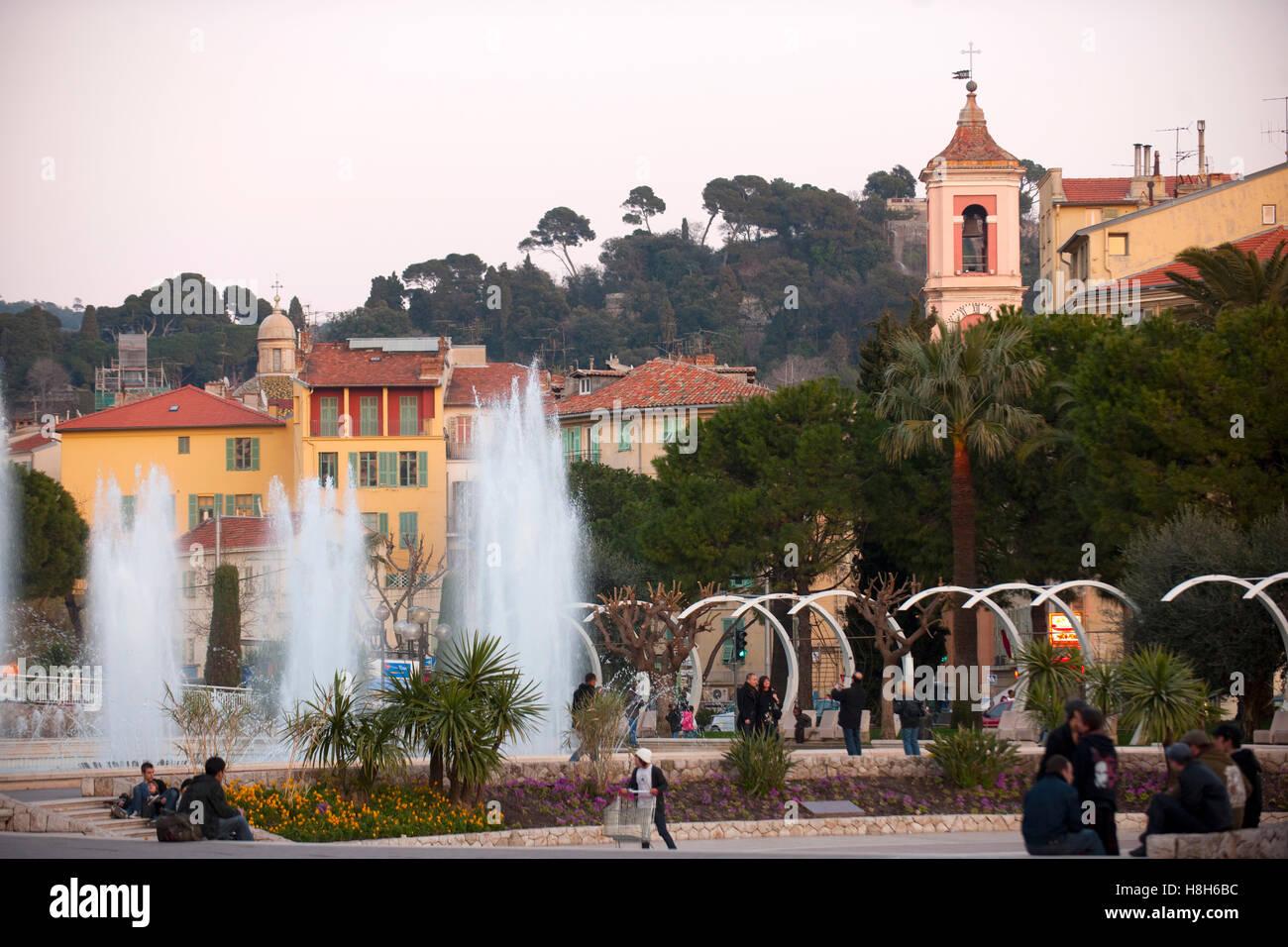 Frankreich, Cote d Azur, Nizza, am Place Masséna - Stock Image
