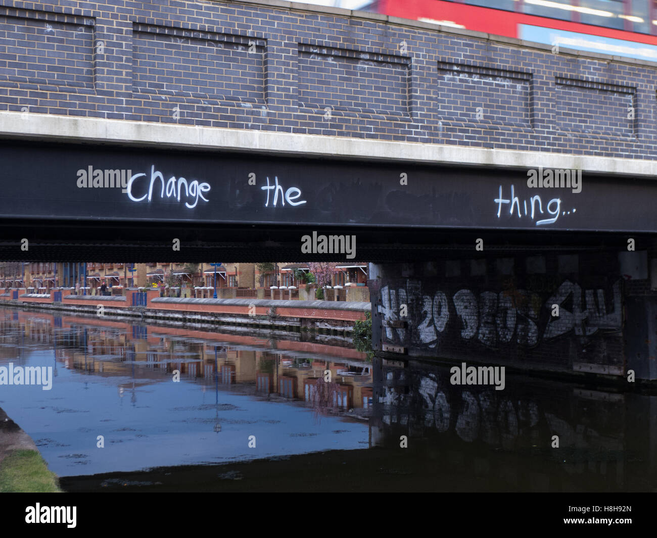 Bridge over the Lee River, London - Stock Image