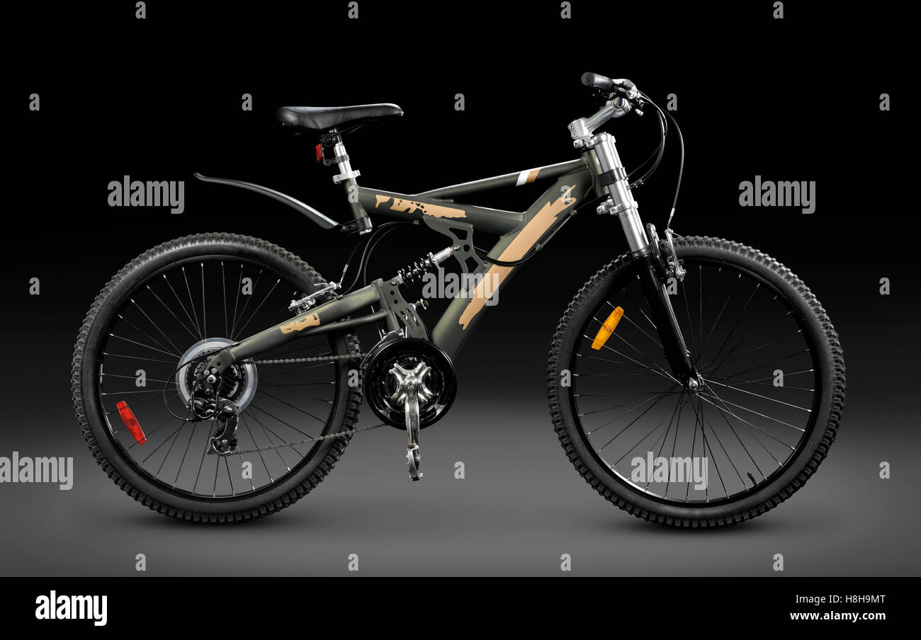 MTB sport 21-speed dual suspension mountain bicycle - Stock Image