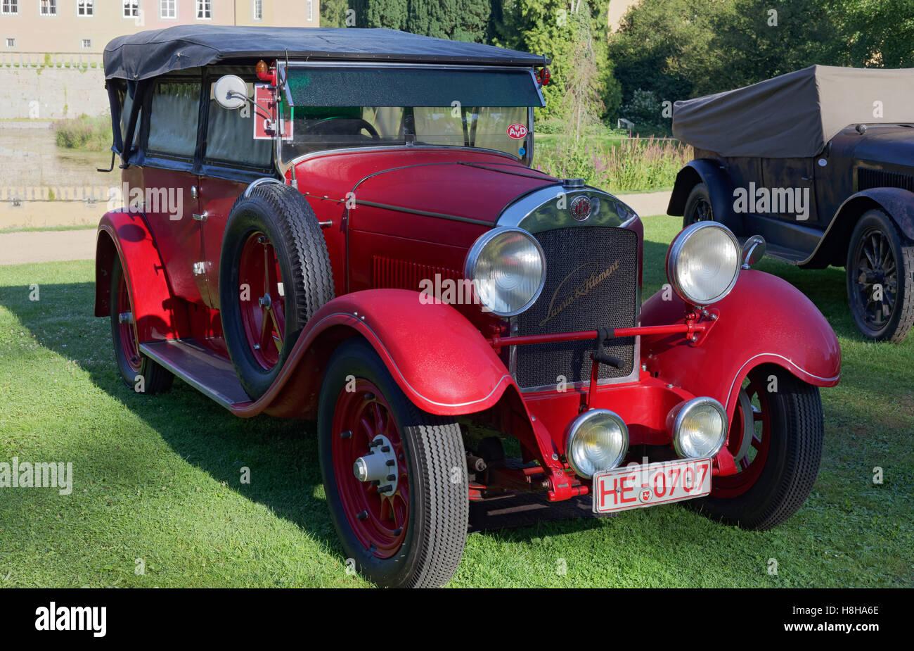 Laurin & Klement type 110,1925 model, Czech vintage car, Schloss Dyck Classic Days 2016 Jüchen, Niederrhein - Stock Image
