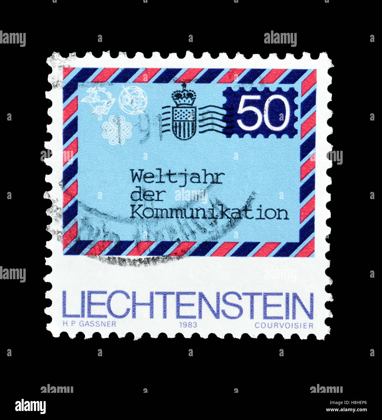 Liechtenstein stamp 1983 - Stock Image