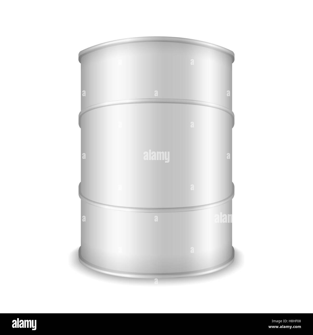 White barrel on white background - Stock Image