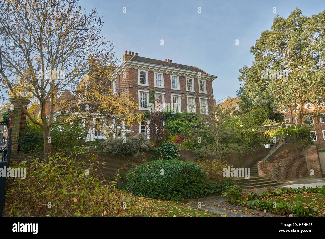 Burgh House,  Hampstead - Stock Image