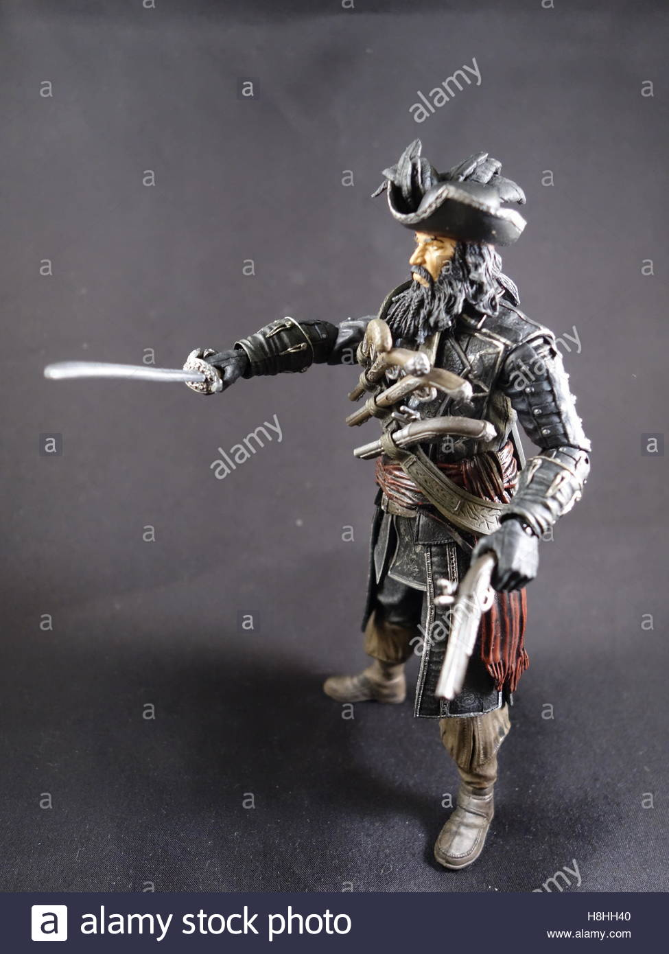 Mcfarlane Assassins Creed Black Flag Pirate action figure - Stock Image