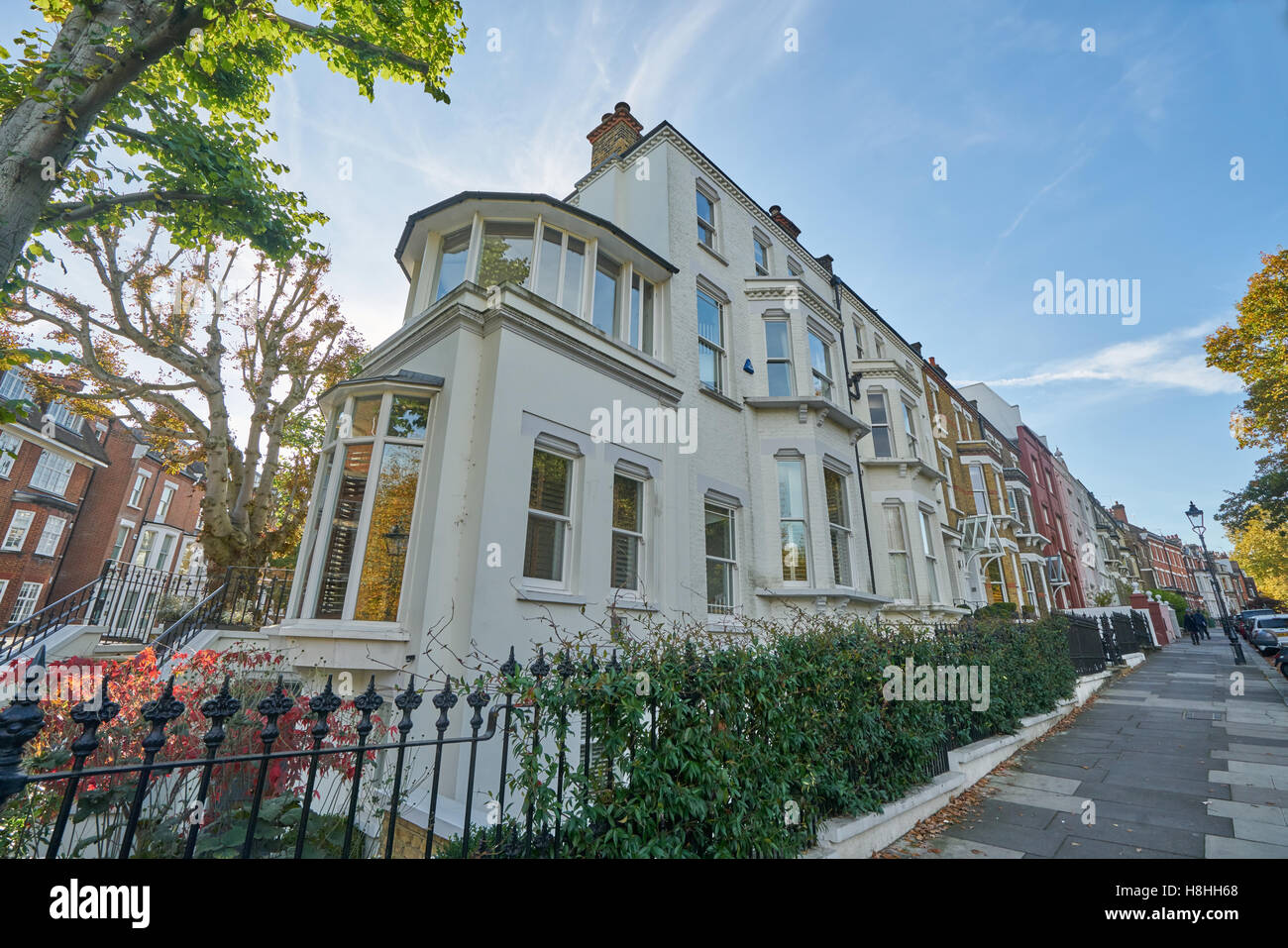 Expensive Houses  Hampstead. - Stock Image