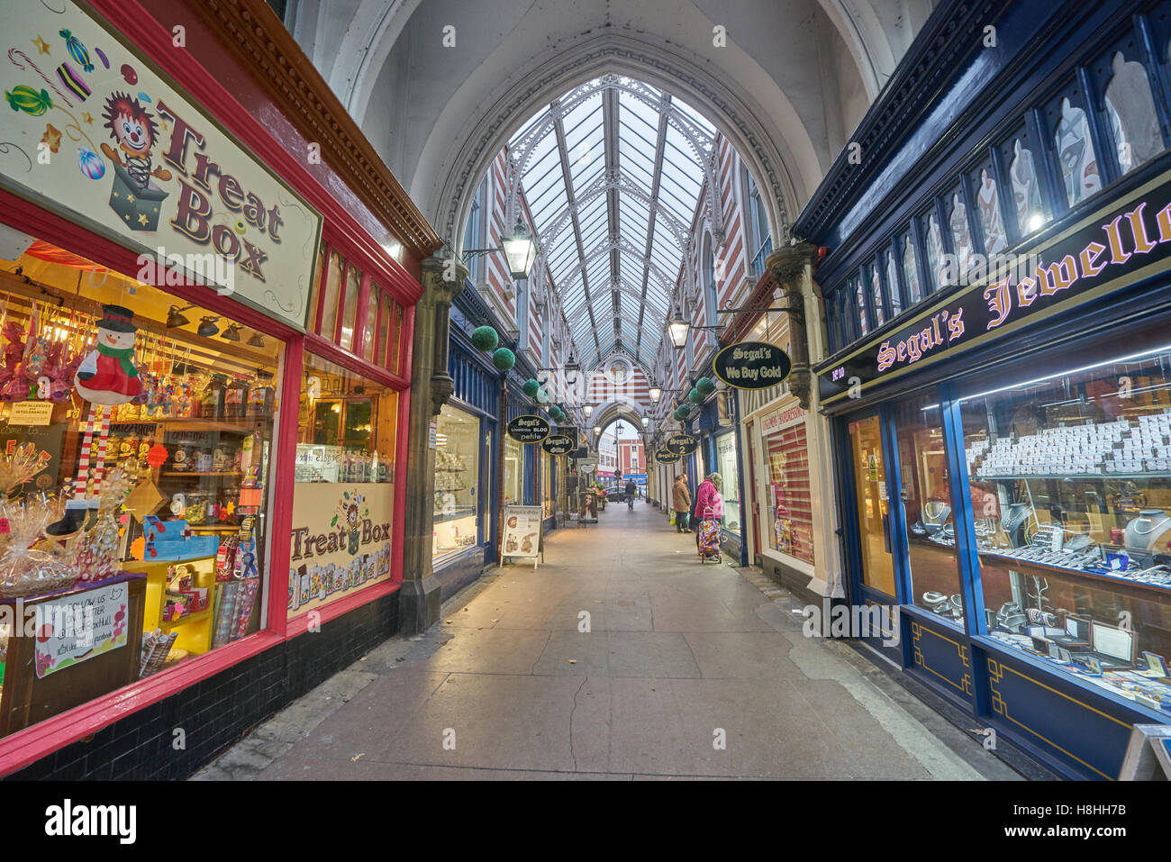 victorian shopping arcade Hull. - Stock Image