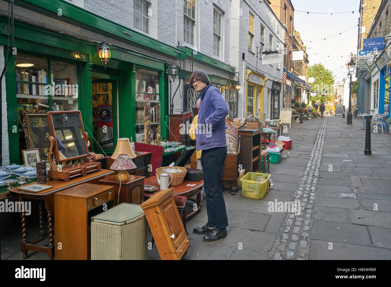 second hand shop,  Hampstead,  flask walk - Stock Image