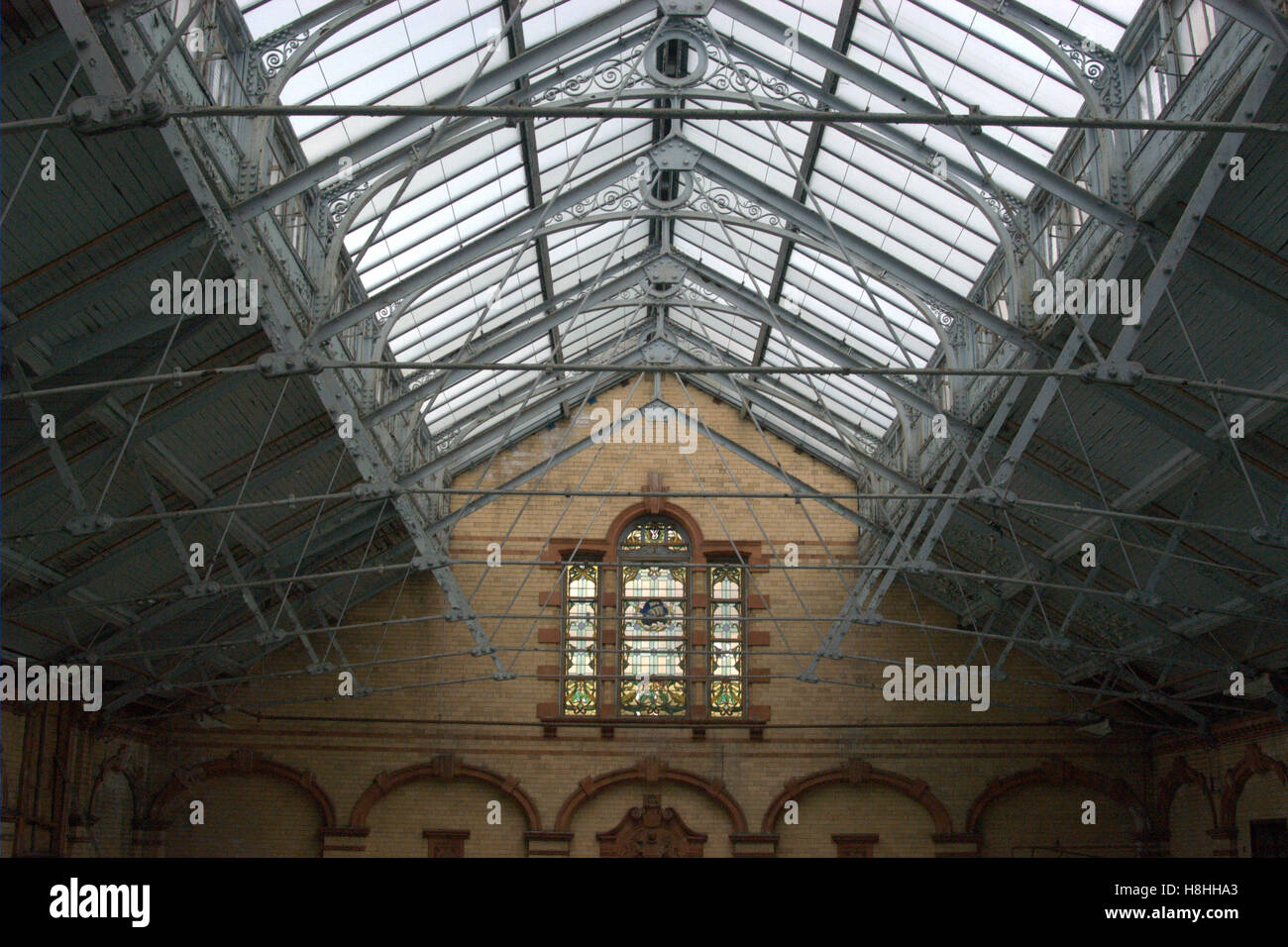 Roof Lights, Victoria Baths, Manchester - Stock Image