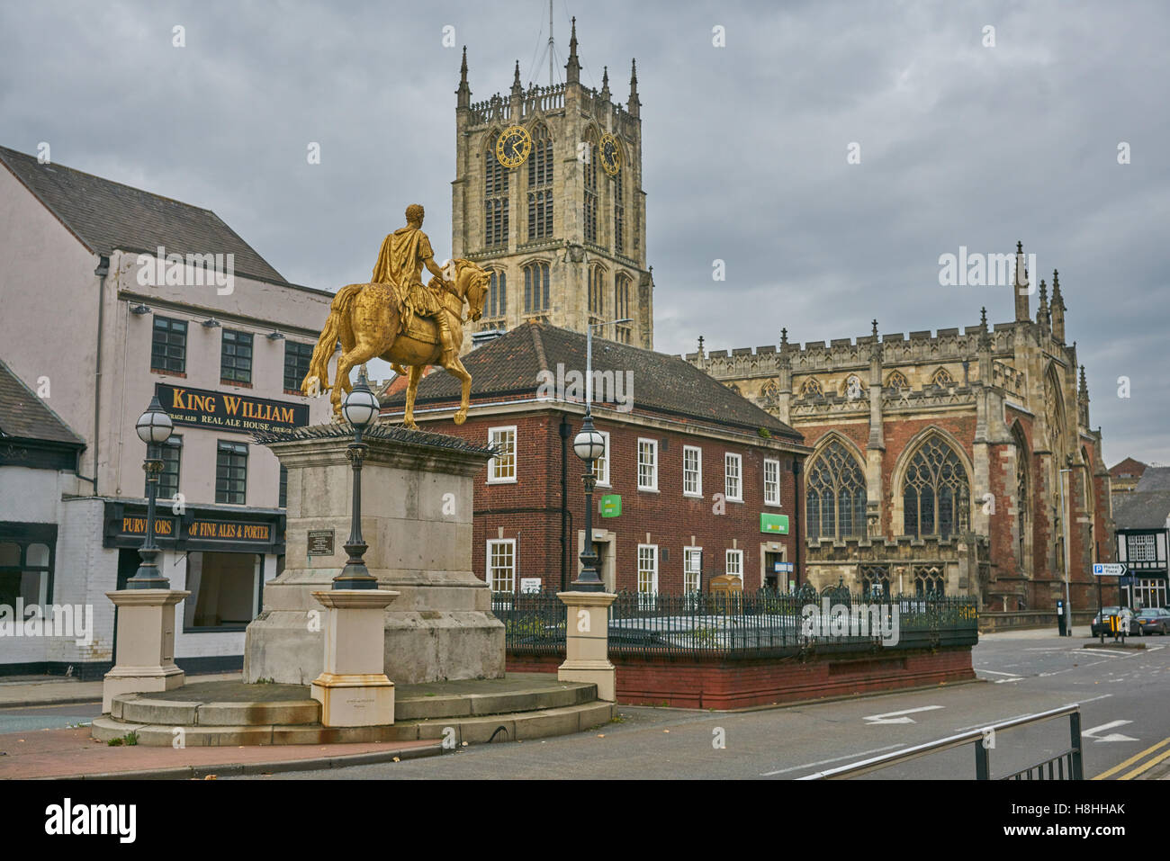 Statue of King William III  Hull. - Stock Image