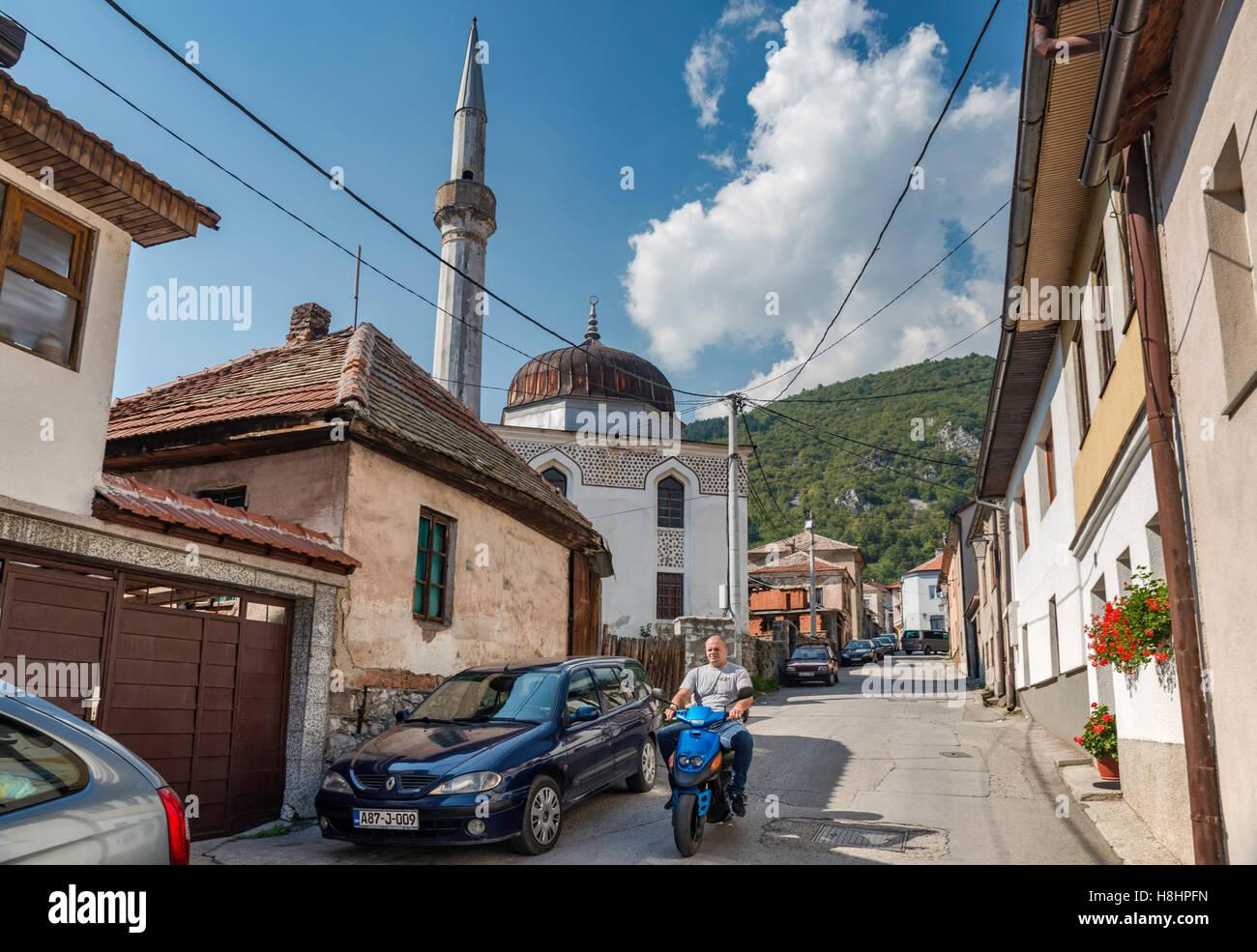 Varoska Mosque in Travnik, Bosnia and Herzegovina - Stock Image