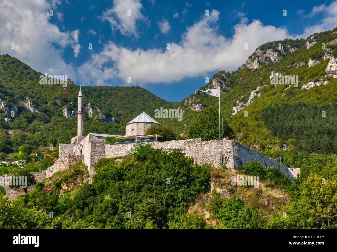 Stari Grad Fortress in Travnik, Bosnia and Herzegovina - Stock Image