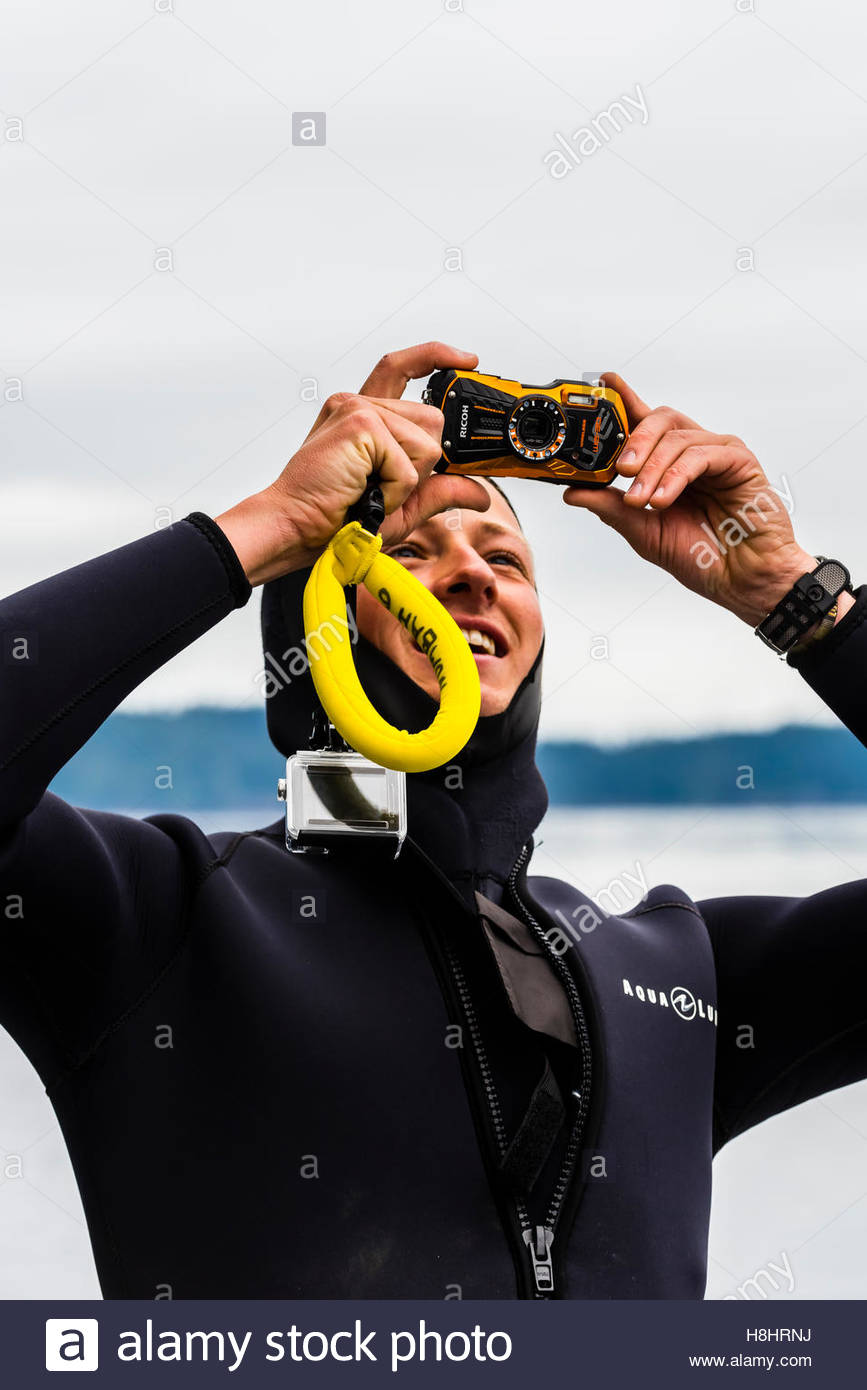 Snorkeling excursion (from Wilderness Explorer small cruise ship), Freshwater Bay, Chichagof Island, Inside Passage, - Stock Image