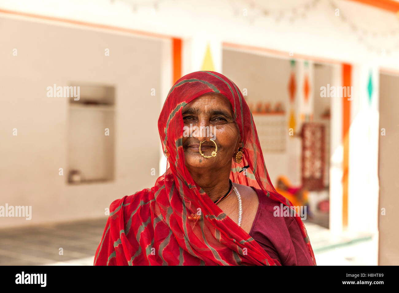 Rajasthani woman - Stock Image
