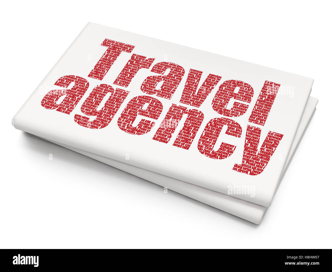 Travel Concept Travel Agency On Blank Newspaper Background Stock