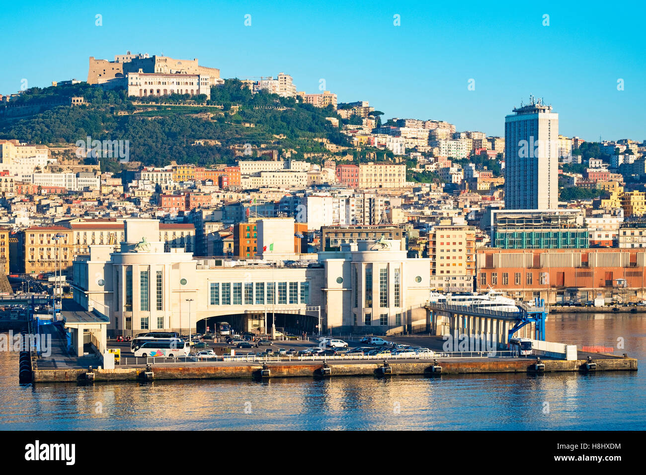 The port entrance of Naples, Italy - Stock Image