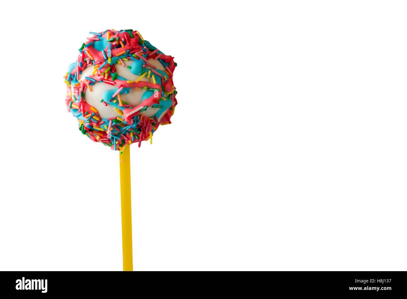Bright cake lollipop. - Stock Image