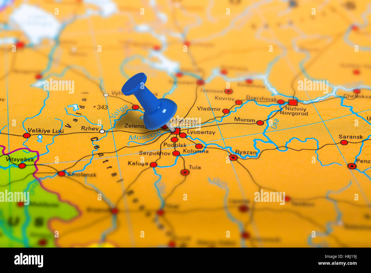 Moscow Russia Map Stock Photo 125786014 Alamy