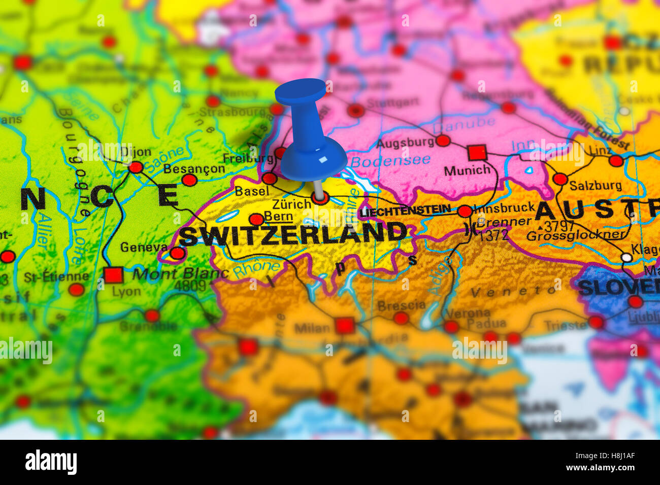 Zurich switzerland map stock photo 125786039 alamy zurich switzerland map gumiabroncs Gallery