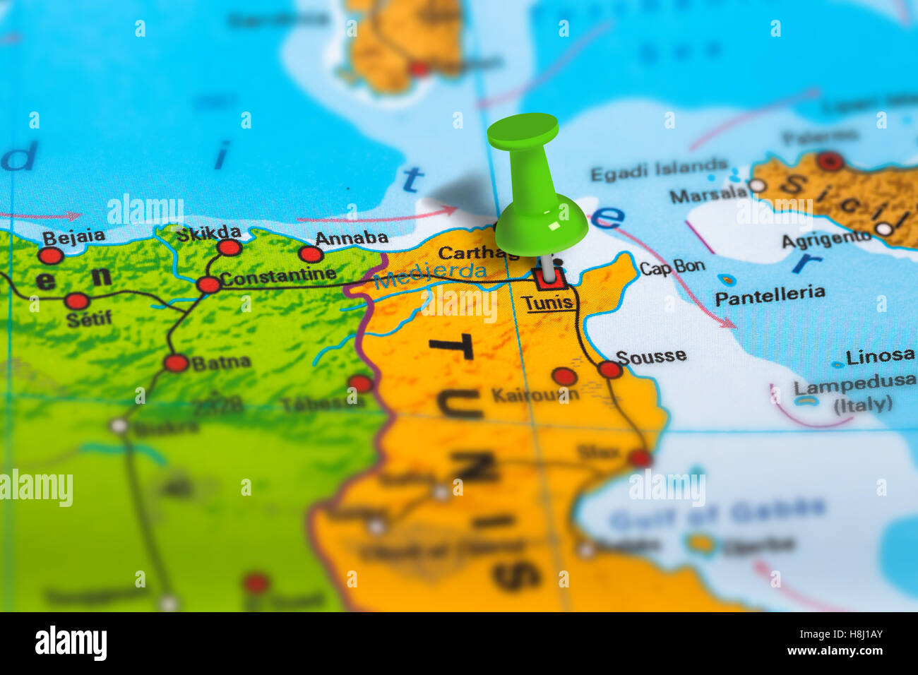 Tunis Tunisia map Stock Photo 125786051 Alamy