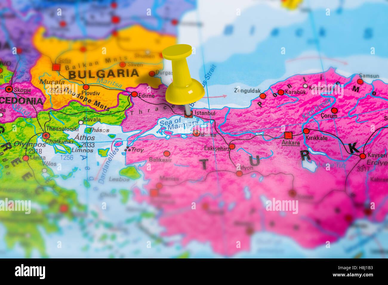 Istanbul Turkey map Stock Photo 125786055 Alamy