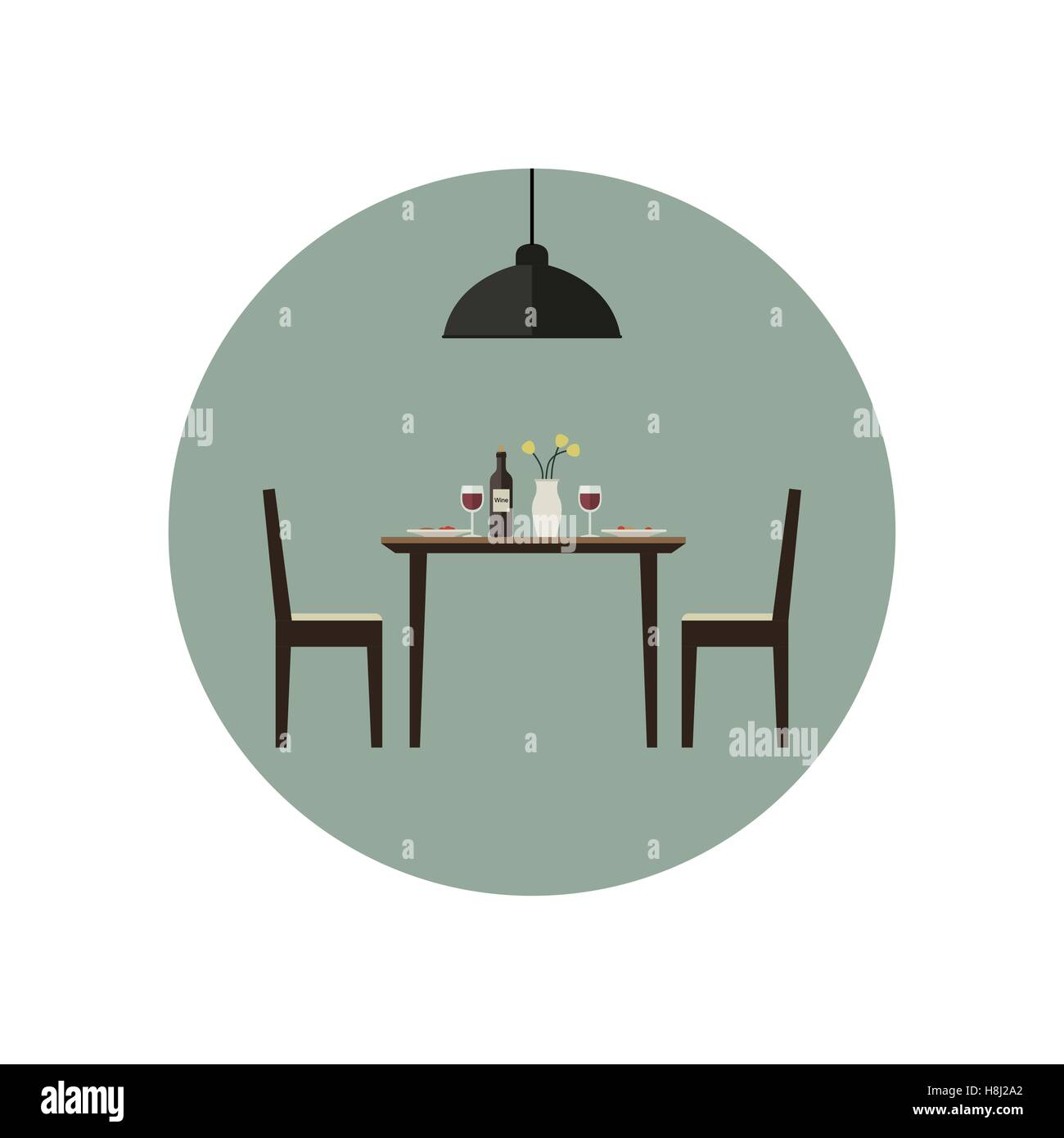 Dining Room Table Stock Vector Images - Alamy