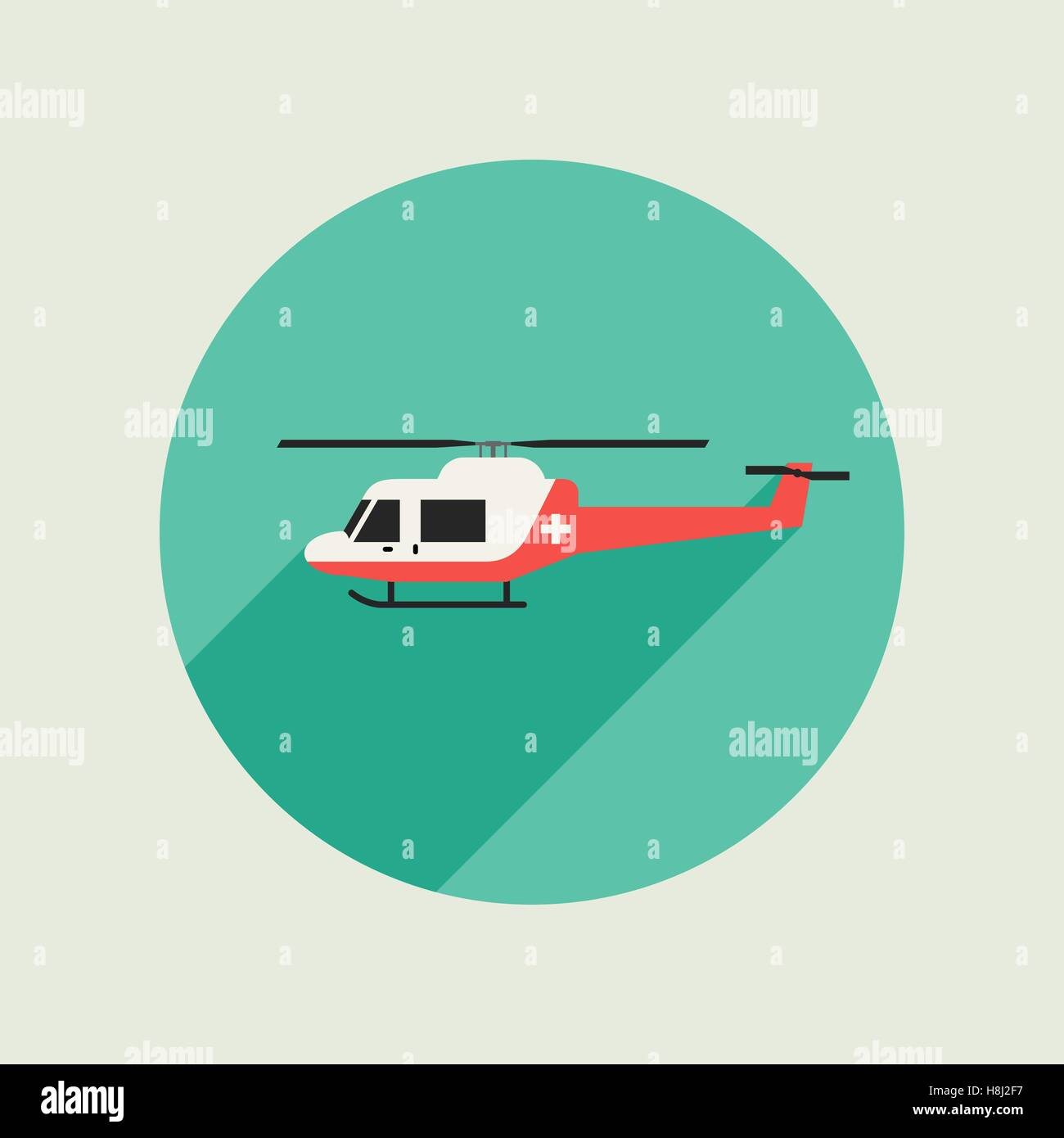 Ambulance vector helicopter - Stock Image