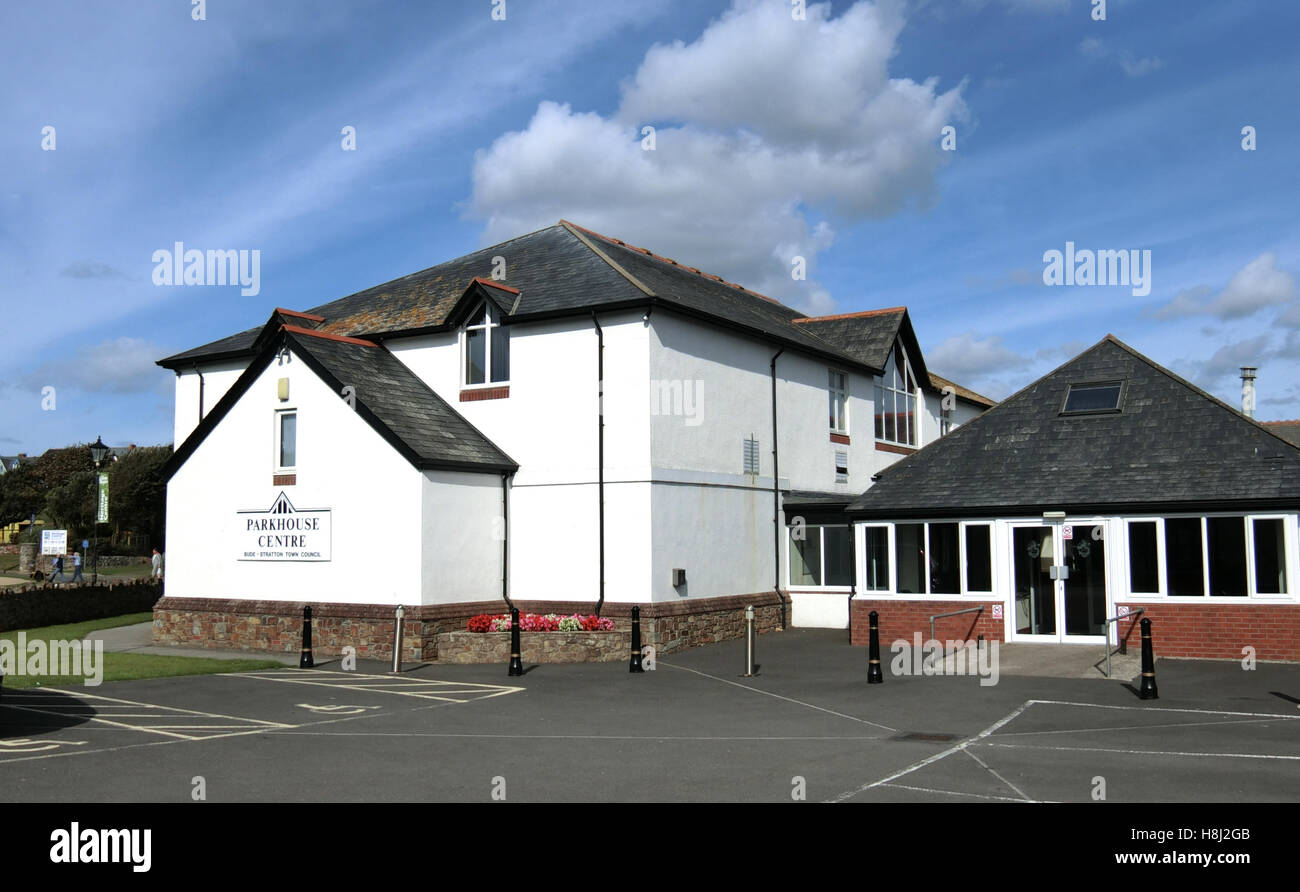 The Parkhouse Centre, Bude-Stratton Town Council, Bude, North Cornwall, England, UK - Stock Image