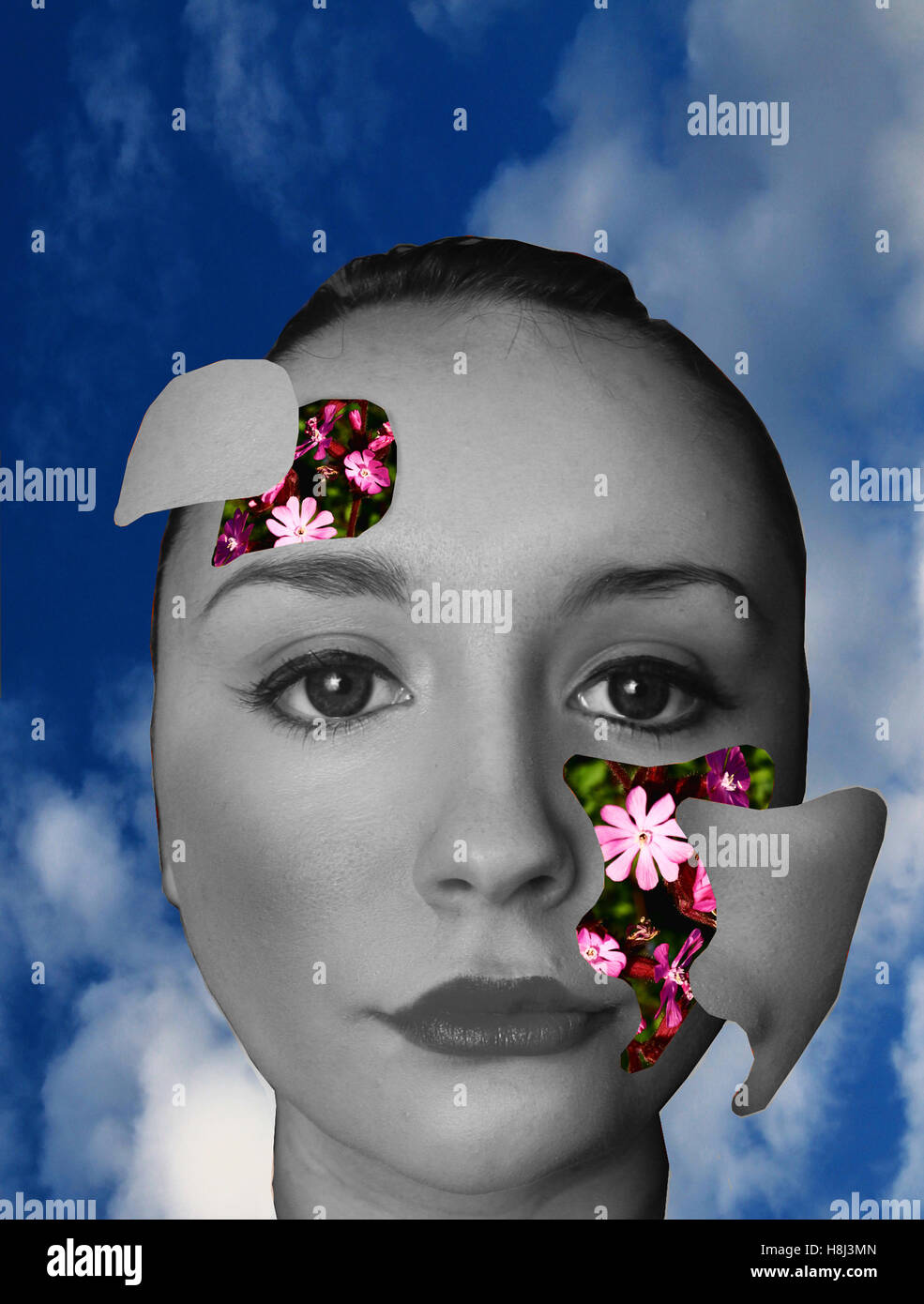 Daydreamer: a photoshop manipulation - Stock Image