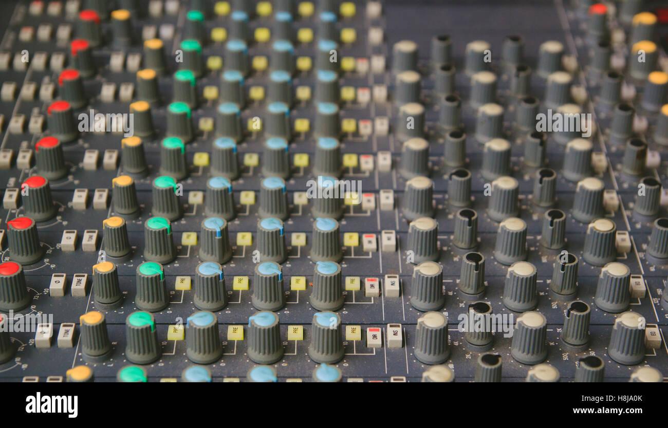 Audio Mixer Stock Photos Images Alamy Circuit Close Up Detail Image