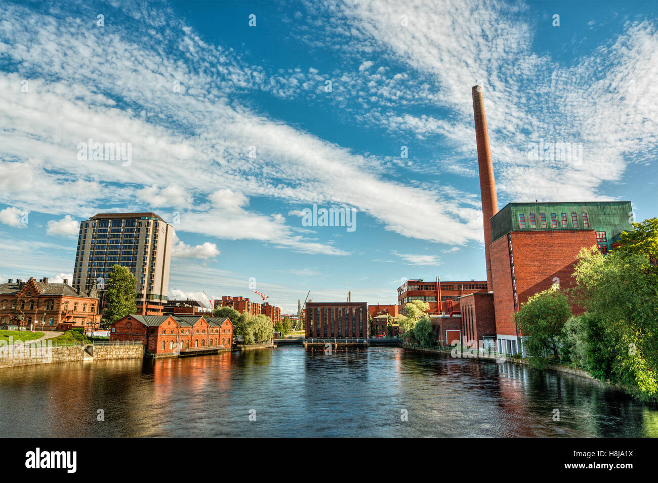 July 2016, industrial buildings in Tampere (Finland), HDR-technique - Stock Image