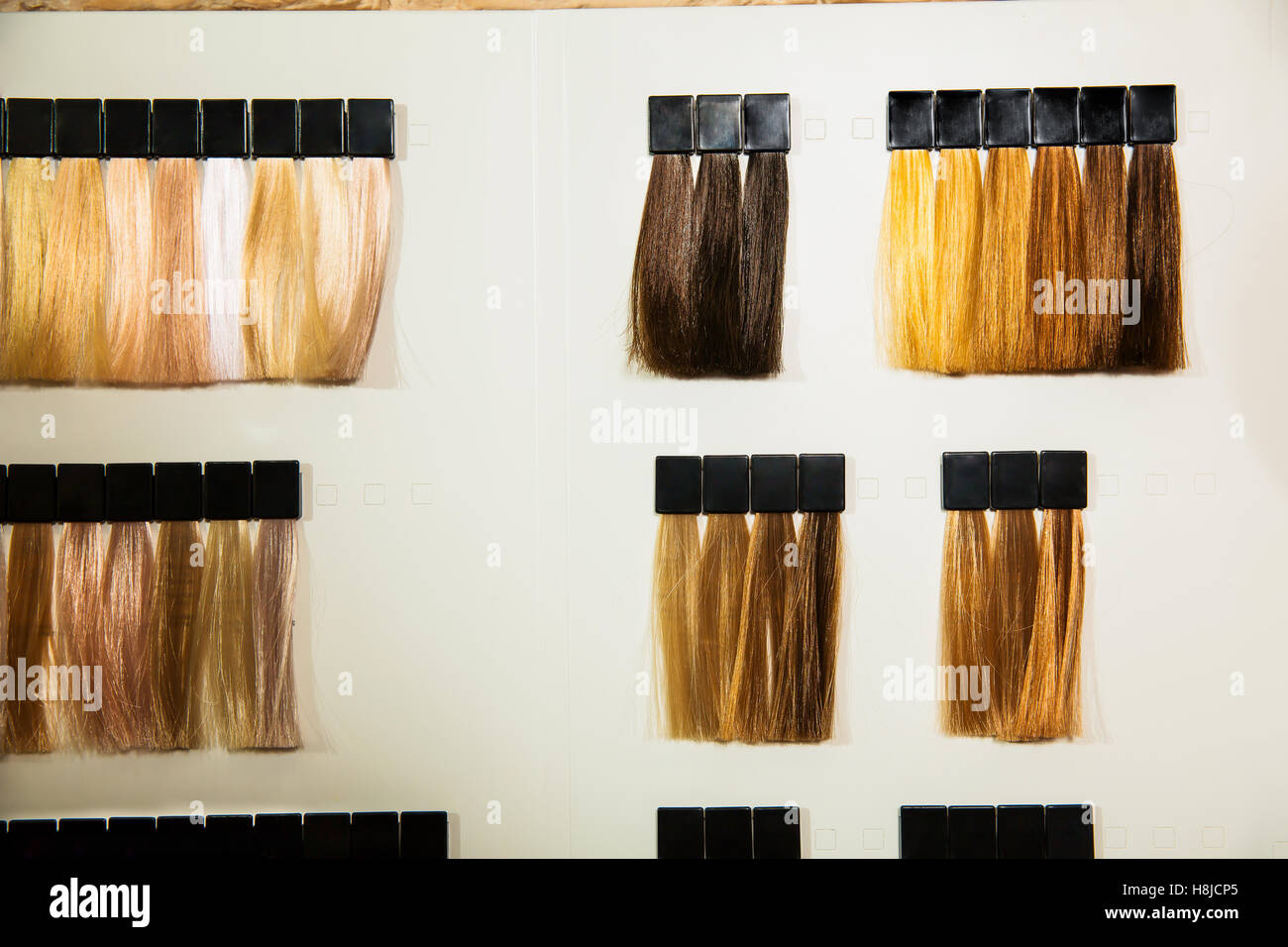 Palette Of Different Colors To Hair Dye Stock Photo 125794989 Alamy