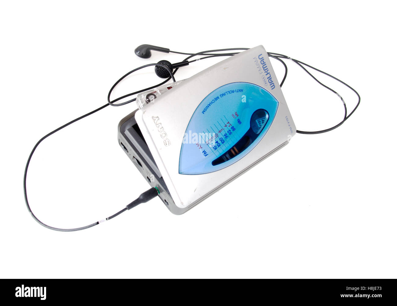 Sony walkman cassette player on white Stock Photo: 125796135