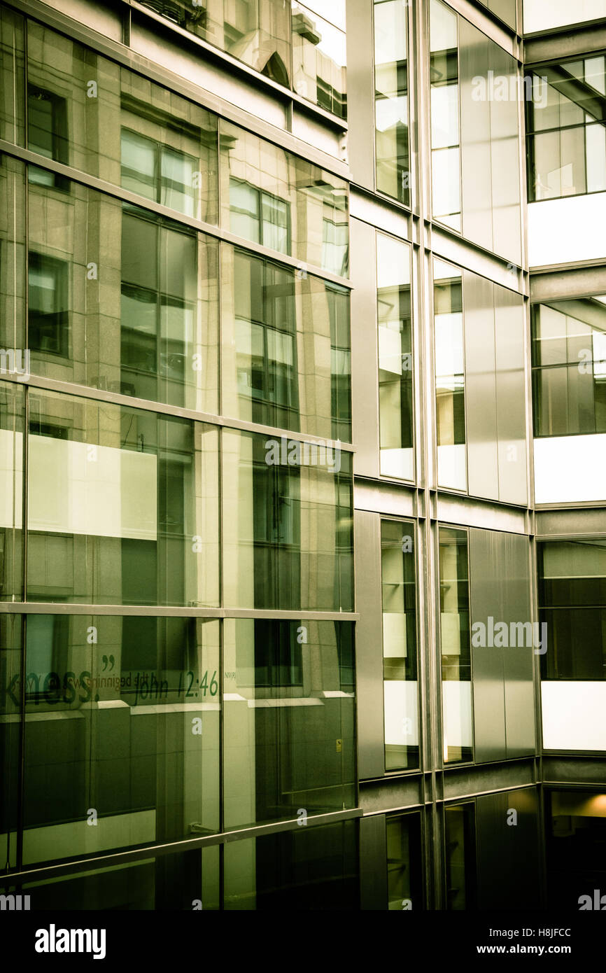 Green tinted office buildings - Stock Image