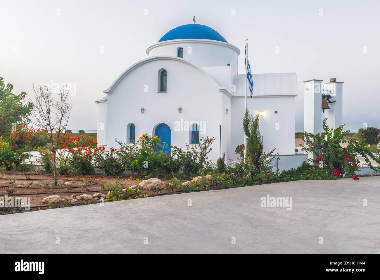 Church in the city of Paphos, Cyprus. Stock Photo