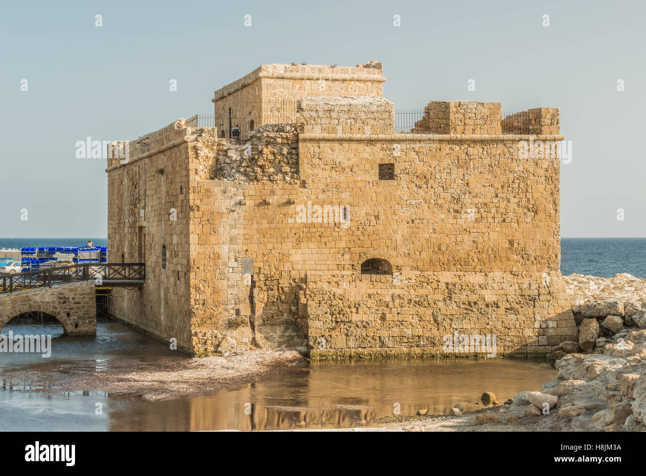 Port fort in Paphos, Cyprus. - Stock Image