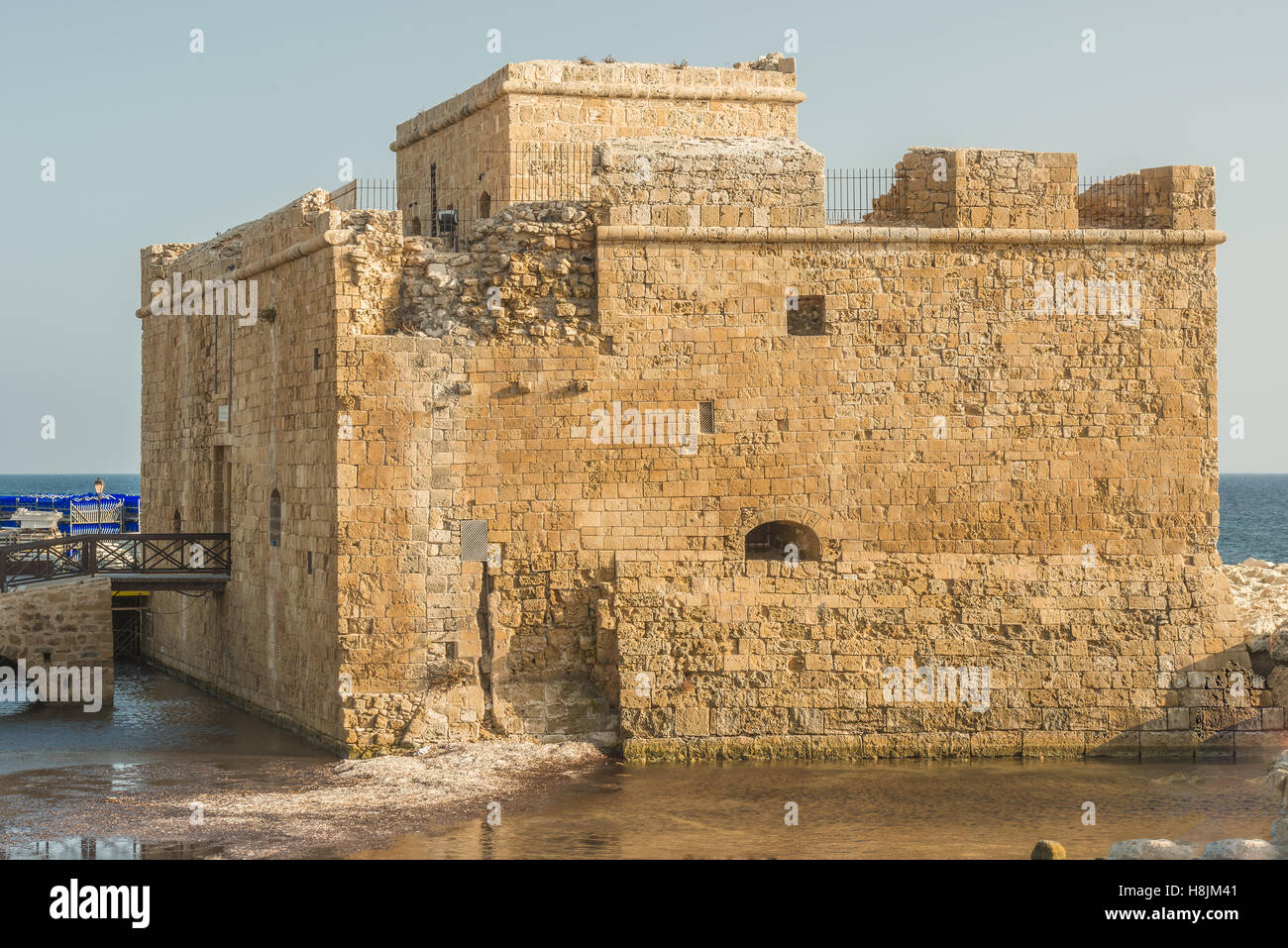 Port fort in Paphos, Cyprus. Stock Photo
