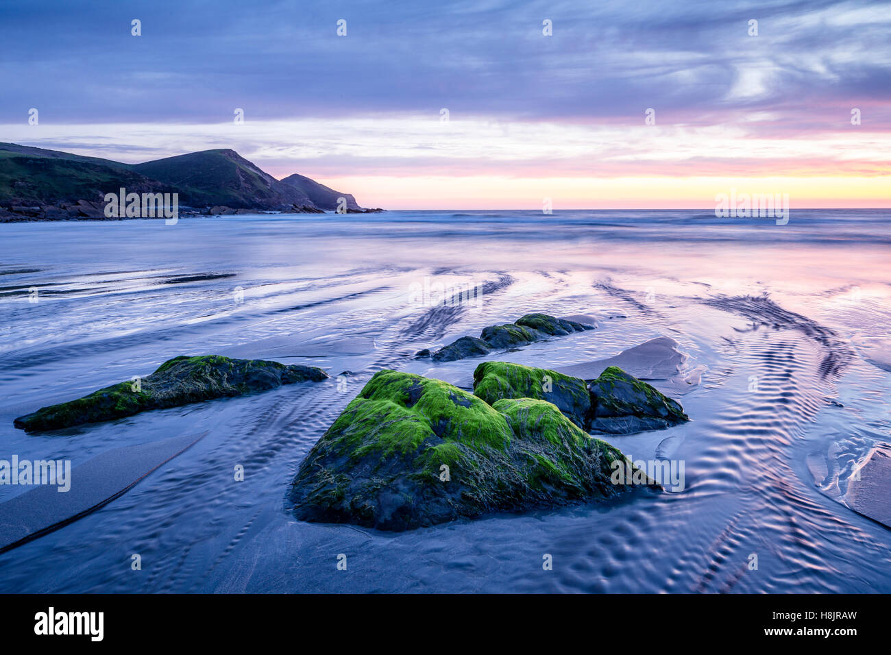 Crackington Haven on the Cornish coastline, UK. - Stock Image