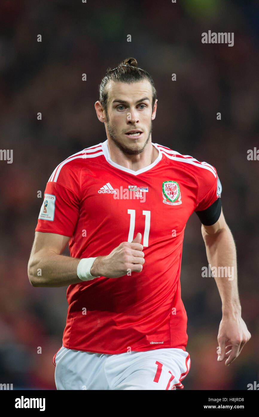 Wales footballer Gareth Bale in action. - Stock Image